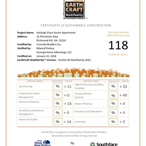 Ashleigh-Place-EarthCraft-Certificate