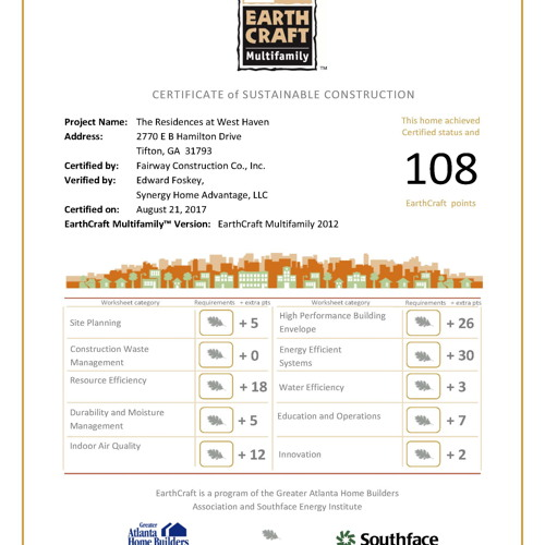 res-westhaven-earthcraft-certificate