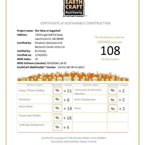 View-At-Sugarloaf-EarthCraft-Certificate